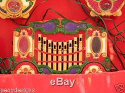 Mr Christmas Musical Lighted Animated Holiday CAROUSEL Circus Animals SEE VIDEO