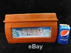 Mr Christmas Musical Melodium Music Box Ballet Dancers Animated 10 Drum Rolls