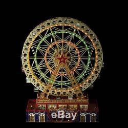 Mr Christmas Musical World's Fair Grand Ferris Wheel 25 Carols Lighted NEW