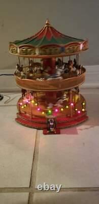 Mr. Christmas Nottingham Fair Double Decker Holiday Music Carousel