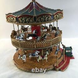 Mr. Christmas Nottingham Fair Double Decker Holiday Music Carousel With Box