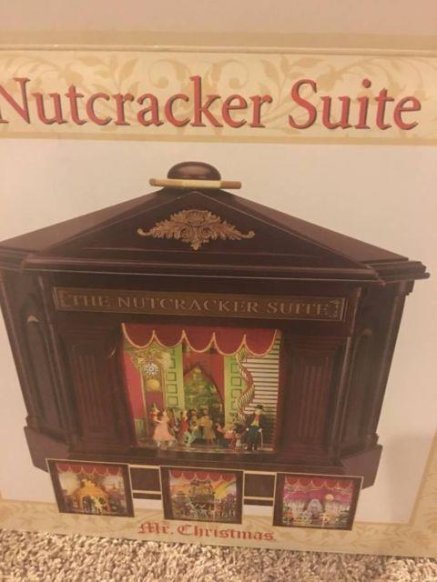 Mr. Christmas Nutcracker Suite Ballet Animated Musical Carousel Theater Box