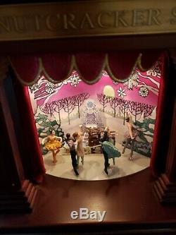 Mr. Christmas Nutcracker Suite Wood Theater Music Box. See description