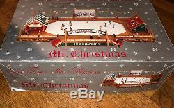 Mr Christmas Old Time Ice Skaters Nottingham Fair Musical Animated Skating Rink