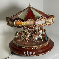 Mr. Christmas Royal Marquee Deluxe Grand Carousel Works Great -Light Sound Move