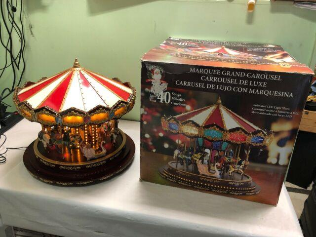 Mr Christmas Royal Marquee Grand Carousel Musical Used Works & Read