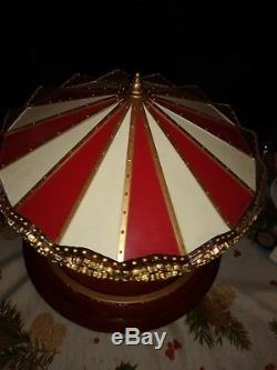 Mr Christmas Royal Marquee Grand Carousel Musical WORKS / WATCH VIDEO
