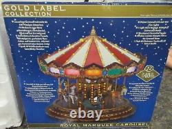 Mr Christmas Royal Marquee Worlds Fair Carousel 20 Songs Musical Lights NIB NEW