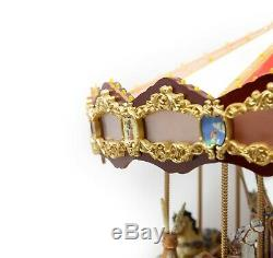 Mr Christmas Royal Marquee Worlds Fair Carousel 30 Songs Musical Animated Lights