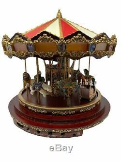 Mr Christmas Royal Marquee Worlds Fair Carousel 40 Songs Musical Animated Lights