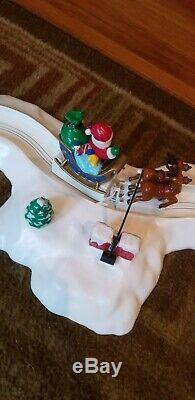 Mr. Christmas SANTA'S SLEIGH RIDE Christmas Tree Lights Animated Works Video