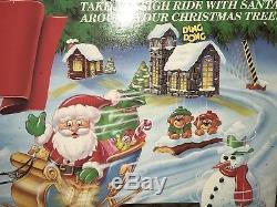 Mr. Christmas SANTA'S SLEIGH RIDE Christmas Tree lights Animated Works
