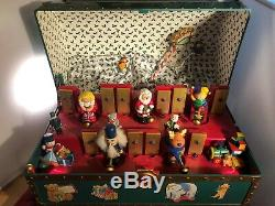 Mr Christmas Santa' Lighted Magically Moving Xylophone Toy Chest Music Box VIDEO