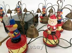 Mr Christmas Santa Marching Band Animated Brass Carols Musical Bells Vtg