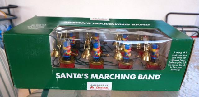 Mr Christmas Santa's Marching Band 8 Bell Animated Musicians 35 Songs 1991 Nib