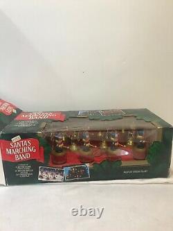 Mr Christmas Santa's Marching Band Holiday Musical Bell Choir Vintage 1991