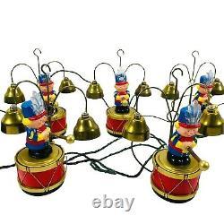 Mr. Christmas Santa's Marching Band Vintage Musical Bell Ringer Choir Carols