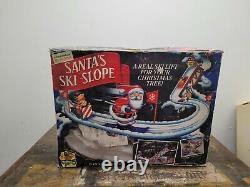 Mr. Christmas Santa's Ski Slope Animated