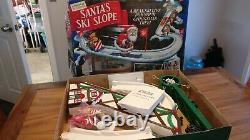 Mr. Christmas Santa's Ski Slope Animated Complete Vintage Working Tree Decor