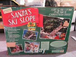 Mr Christmas Santa's Ski Slope Animated Ski Lift Works Great