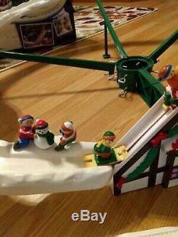 Mr. Christmas Santa's Ski Slope Animated Tree Decoration Complete Works