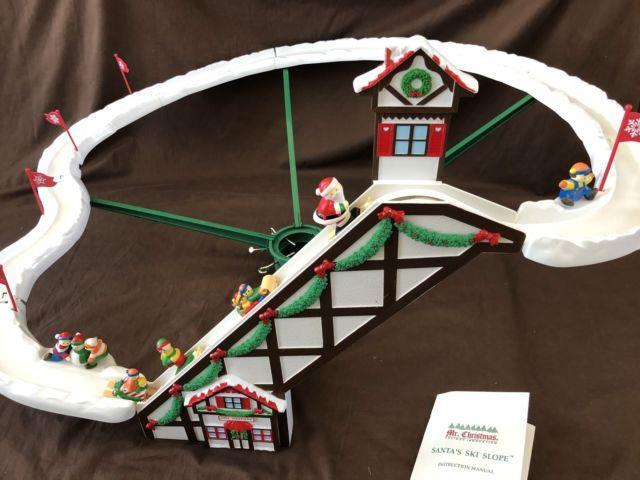 Mr. Christmas Santa's Ski Slope In Original Box 100% Complete 1992 Tested