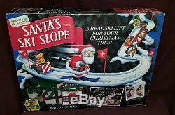 Mr. Christmas Santa's Ski Slope In Original Box 99% Complete 1992 Works