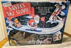 Mr. Christmas Santa's Ski Slope WORKING With BOX COMPLETE SET Vintage (1992)