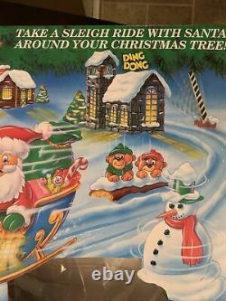 Mr. Christmas Santa's Sleigh Ride Electric Slot Car 1993 Lights Motion Track NIB