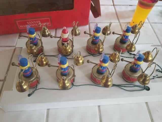 Mr. Christmas Santas Marching Band 35 Carols 16 Bells Music Box-works