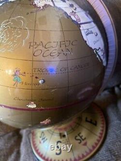 Mr Christmas Seasons Global Greetings World Talking Globe Works Gold Label Rare