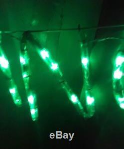 Mr Christmas Silhouette Light Sculpture SEASONS GREETINGS vtg rare large sign