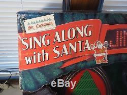 Mr. Christmas Sing Along with Santa Karaoke 50 Christmas Songs NEW NEW vintage