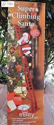 Mr. Christmas Super Tree Climbing Santa Claus 15 Christmas Carols Kids Will LOVE