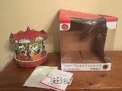 Mr Christmas Triple Decker Carousel 50 Songs Lights up Original Box 2010 Village