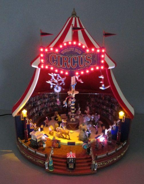 Mr. Christmas Under The Big Top World's Fair Light Up Animated Musical Figure