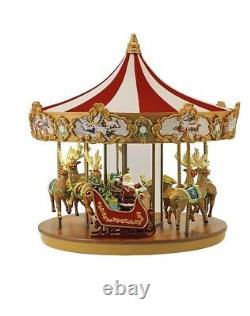 Mr. Christmas Very Merry Carousel Plays 25 Carols & Light Show New In Box