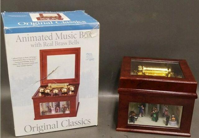 Mr Christmas Victorian Era Ballroom Moving Dancers & Bells 50 Tune Music Box