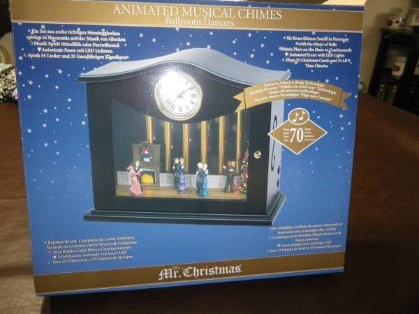 Mr Christmas Victorian Music Box Dancers Fireplace Chimes Clock