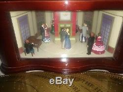 Mr. Christmas Village Square Animated Symphonium Music box Victorian Ballroom 16