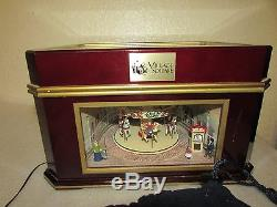 Mr. Christmas Village Square Animated carousel Symphonium Music box 16 discs