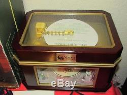 Mr. Christmas Village Square Animated carousel Symphonium Music box mint