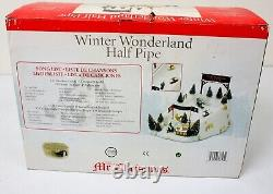 Mr. Christmas Winter Wonderland Animated Snowboard Half Pipe NEW NEVER USED