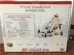 Mr Christmas Winter Wonderland Bobsled Ride Animated Christmas Village Accessory