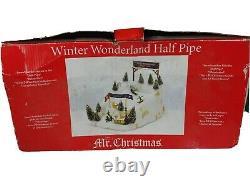 Mr Christmas Winter Wonderland Half Pipe Animated Display, Item 157482 SEE VIDEO