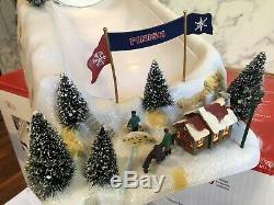 Mr Christmas Winter Wonderland Half Pipe Holiday Decor Animated Snow Music Rare