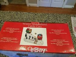 Mr Christmas Winter Wonderland LIghted Moving Cable Cars Ski Lift Music Box EXC+