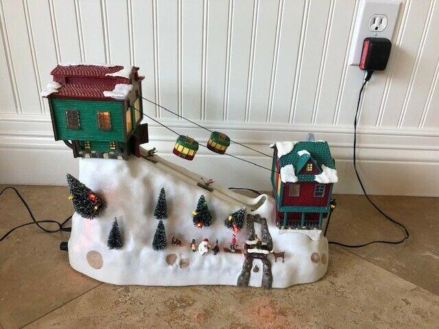 Mr Christmas Winter Wonderland Lighted Moving Cable Cars Ski Lift Music Box