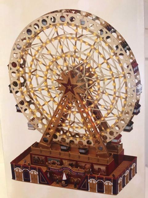 Mr Christmas World's Fair Grand Ferris Wheel Music Lights Animation New In Box