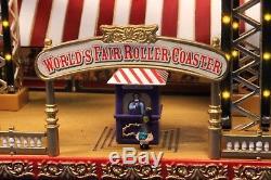 Mr Christmas World's Fair Tornado Roller Coaster Ride / Works but Needs Fix